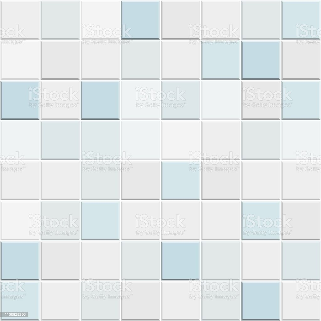 Abstract Seamless Pattern Of White Blue Ceramic Wall And Floor Tilesdesign Geometric Mosaic Texture For The Decoration Of The Bathroom Vector Illustration Stock Illustration Download Image Now Istock