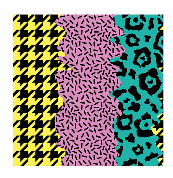 ilustraciones, imágenes clip art, dibujos animados e iconos de stock de abstract seamless pattern pop art style - textura de leopardo