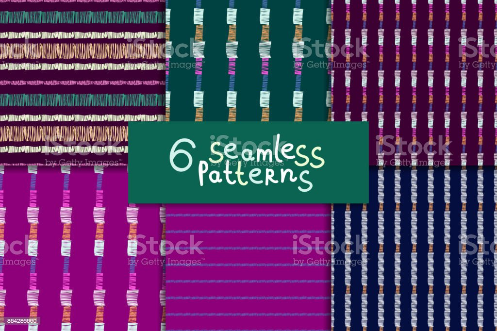 Abstract seamless pattern set royalty-free abstract seamless pattern set stock vector art & more images of abstract