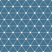 Abstract seamless pattern. Triangles with rounded corners.