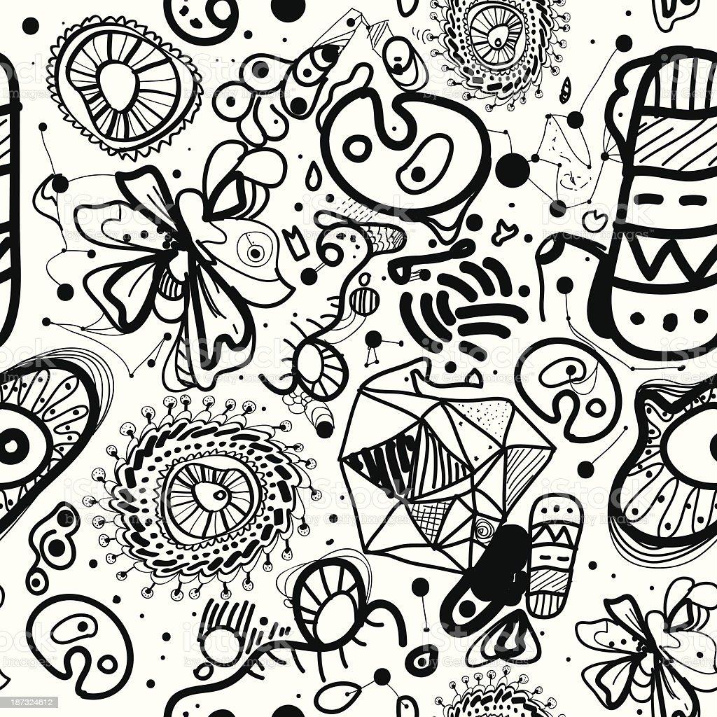 Abstract Seamless Pattern vector art illustration