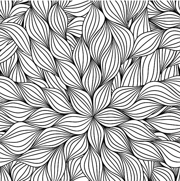 abstract seamless pattern - vintage nature stock illustrations, clip art, cartoons, & icons