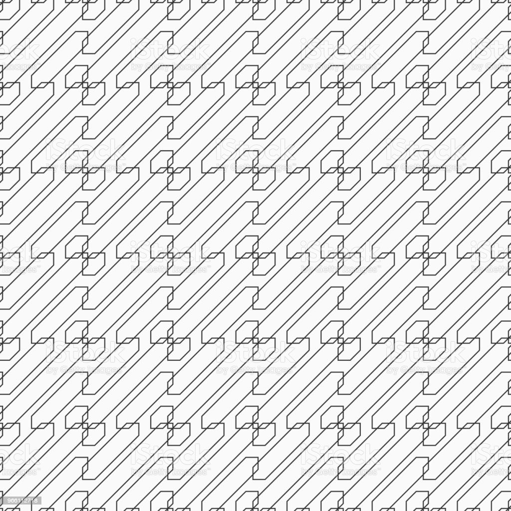 Abstract seamless pattern. Abstract seamless pattern. Regularly repeated geometric shapes. Parallel diagonal lines. Vector monochrome background. Abstract stock vector