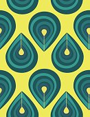 Abstract seamless pattern with blue drop elements