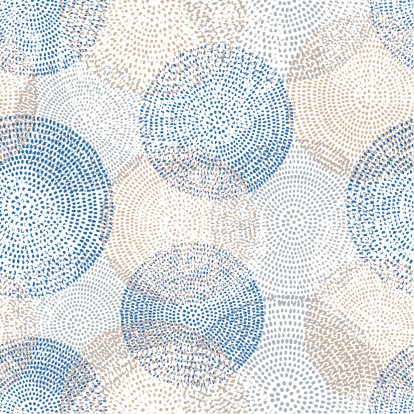 Abstract Seamless Pattern With Circles Stock Illustration - Download Image Now