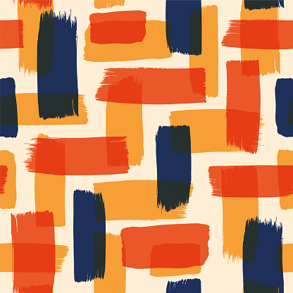 Abstract seamless pattern with color brush strokes.