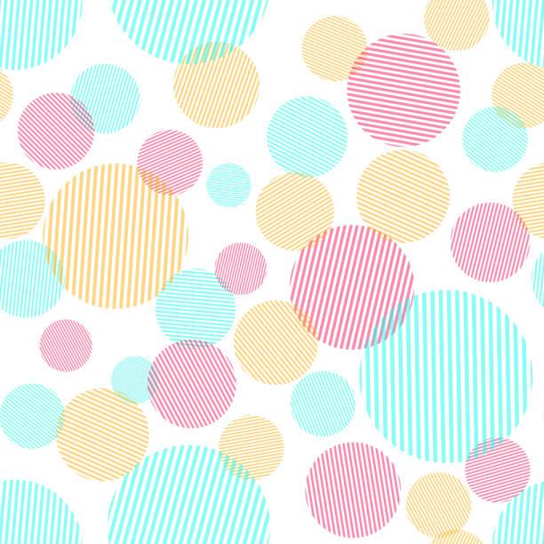ilustrações de stock, clip art, desenhos animados e ícones de abstract seamless pattern with colorful circles - músico popular