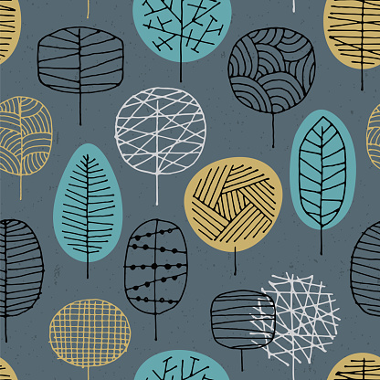 Abstract seamless pattern with Forest background.