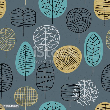 istock Abstract seamless pattern with Forest background. 1225948983