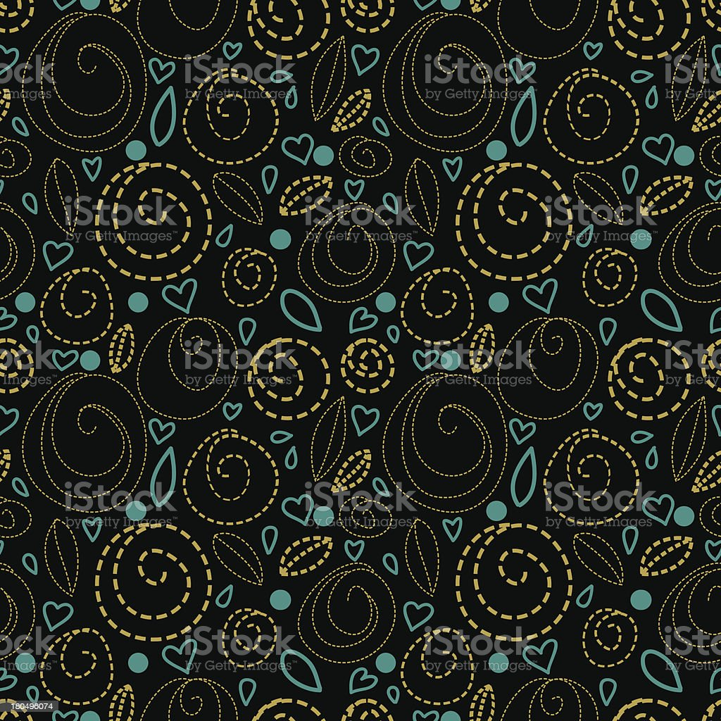 Abstract seamless pattern with hearts royalty-free abstract seamless pattern with hearts stock vector art & more images of abstract