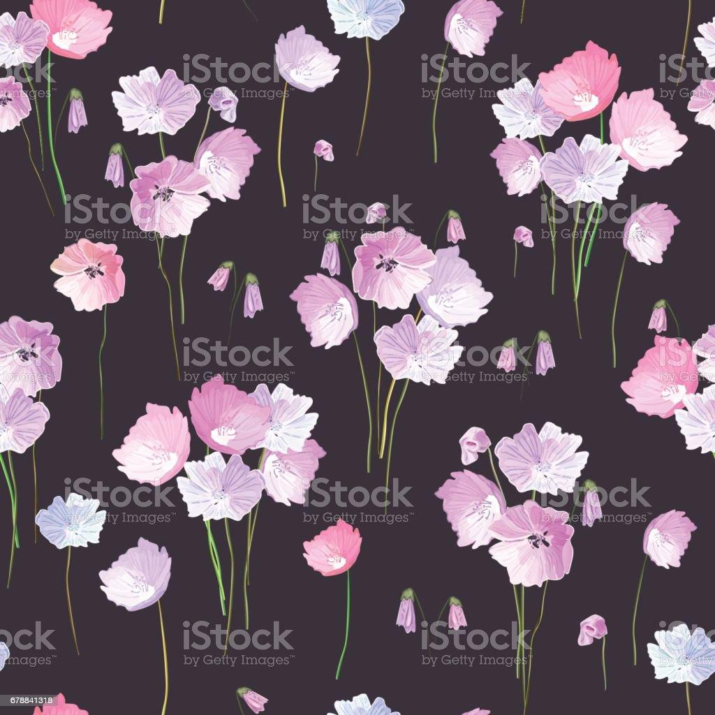 Abstrait modèle sans couture avec main isolé tirés des fleurs sur da abstrait modèle sans couture avec main isolé tirés des fleurs sur da – cliparts vectoriels et plus d'images de abstrait libre de droits
