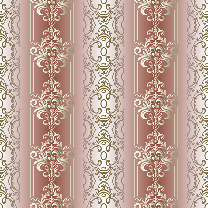 Abstract seamless pattern with ornament. Baroque Seamless Pattern.