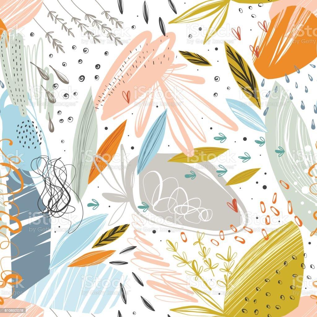 抽象的なシームレスな Pattern_01 ベクターアートイラスト