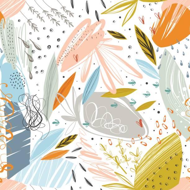Abstrakte nahtlose Pattern_01 – Vektorgrafik