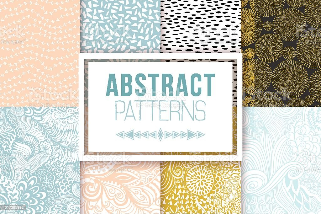 Abstract seamless patterns se vector textures vector art illustration