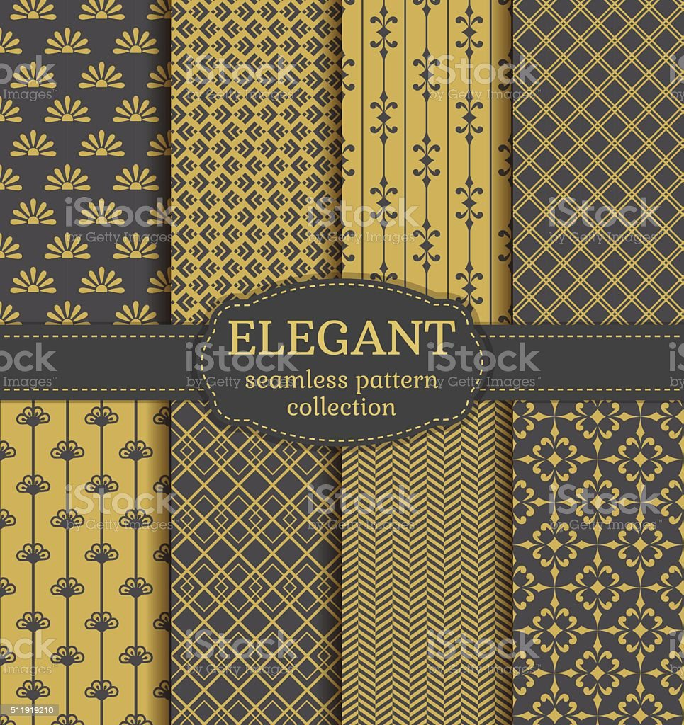 Abstract seamless patterns. Vector set. vector art illustration