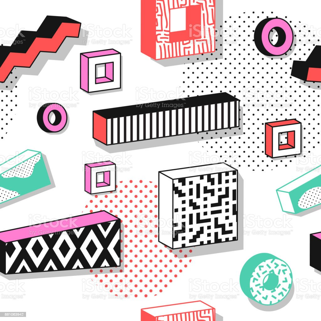 Ilustración de Patrones Abstractos Sin Costuras Con Formas ...