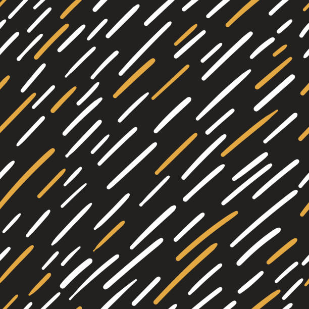 Abstract seamless patterns with stripes of different lengths in Scandinavian style vector art illustration