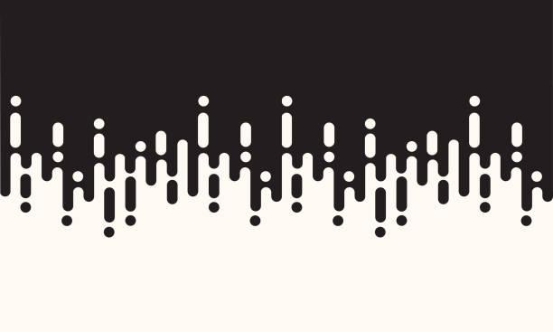 ilustrações de stock, clip art, desenhos animados e ícones de abstract seamless rounded lines - repetição conceito