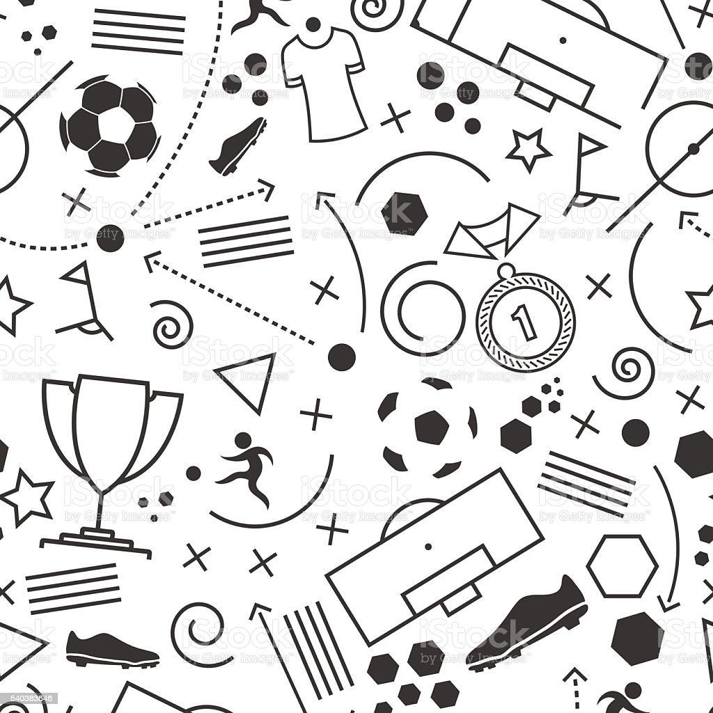 Abstract seamless soccer wallpaper pattern vector art illustration