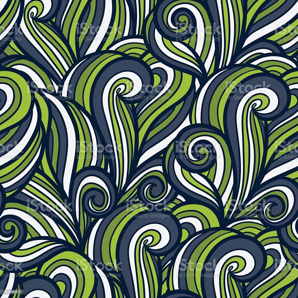Abstract seamless wavy pattern vector art illustration