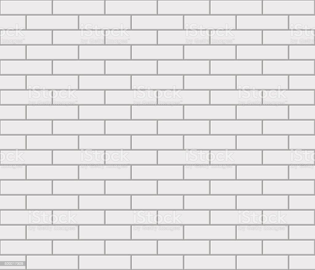 Abstrait sans couture mur de briques blanches à écran - Illustration vectorielle