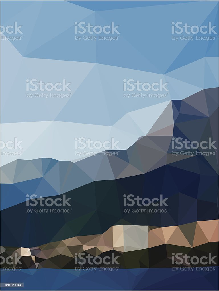 Abstract Seascape royalty-free stock vector art