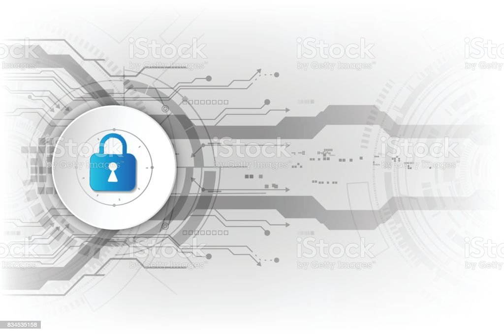 Abstract security digital technology background. Illustration Vector vector art illustration