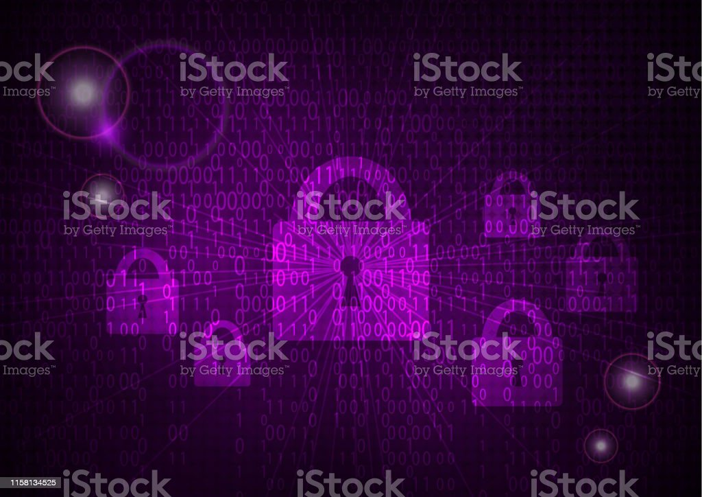 Abstract security technology on global network background, Vector...