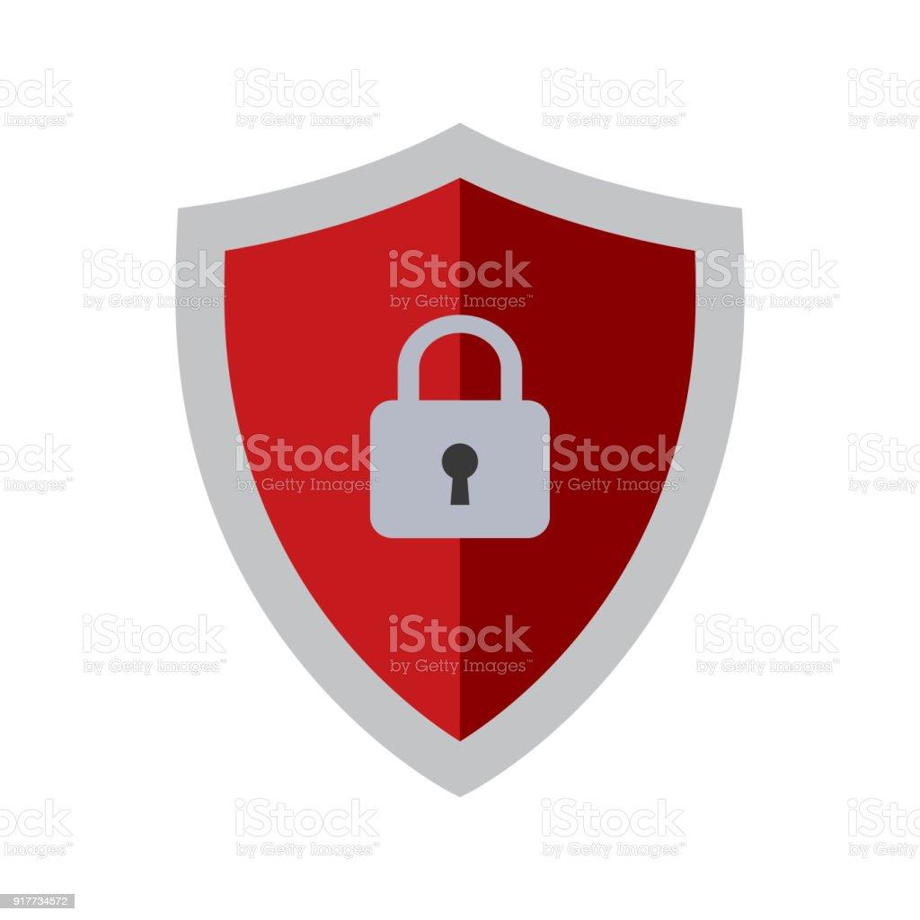 Icône de vecteur de sécurité abstraite - Illustration vectorielle