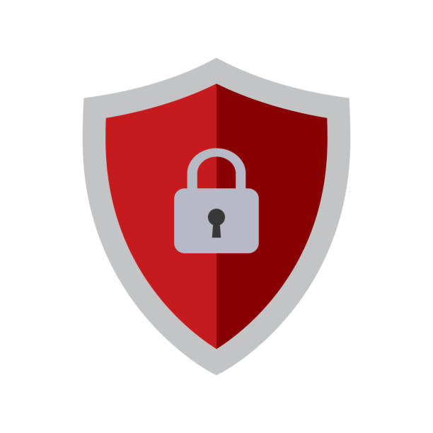 Abstract security vector icon Abstract security vector icon security staff stock illustrations
