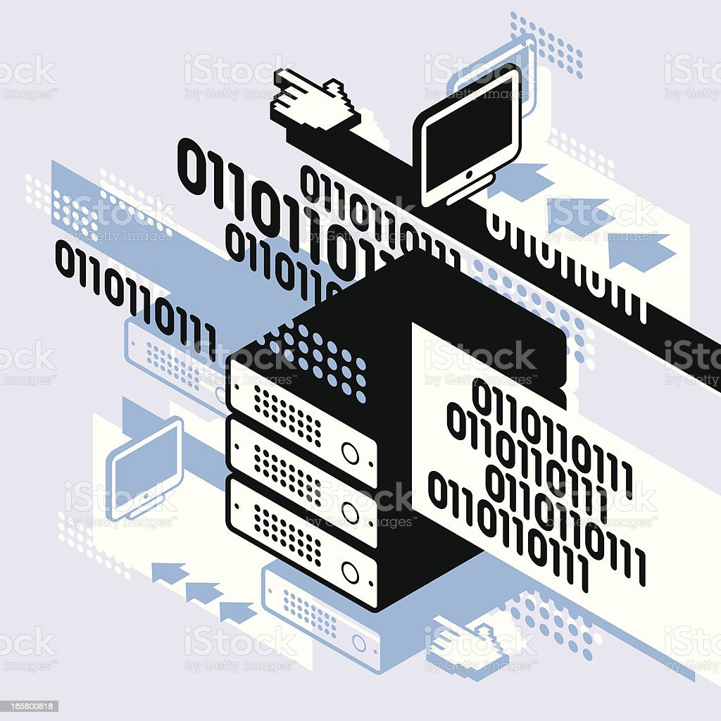 abstract server, number and technology royalty-free stock vector art