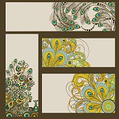 Abstract set of business cards