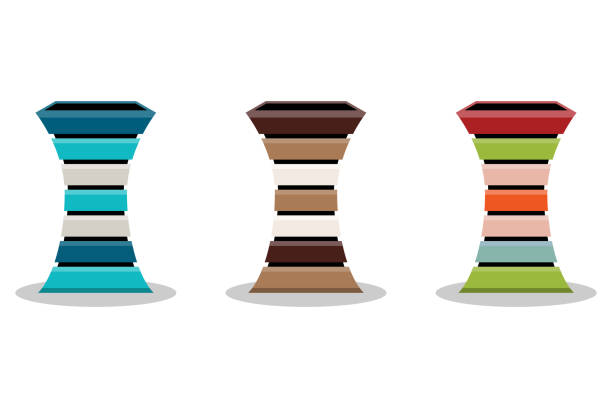 ilustrações de stock, clip art, desenhos animados e ícones de abstract set of wooden flowerpot or basket isolated on white background, vector illustration - box separate life