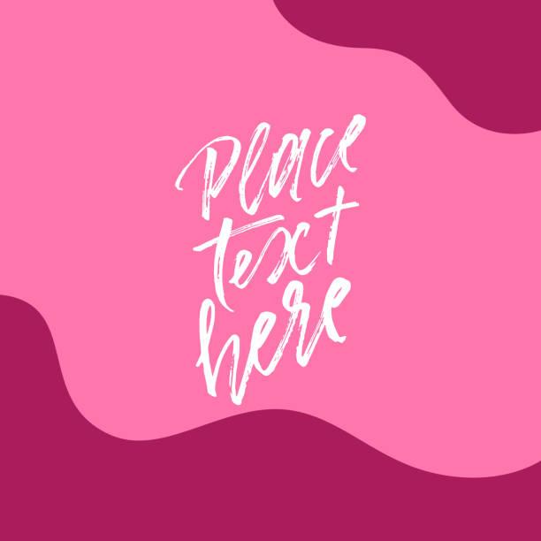 bildbanksillustrationer, clip art samt tecknat material och ikoner med abstrakt former och kopiera utrymme i mitten på djup rosa bakgrund för banner, kort, broschyr, inbjudan design. - rosa bakgrund