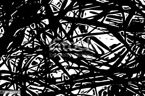 Abstract shapes black and white background