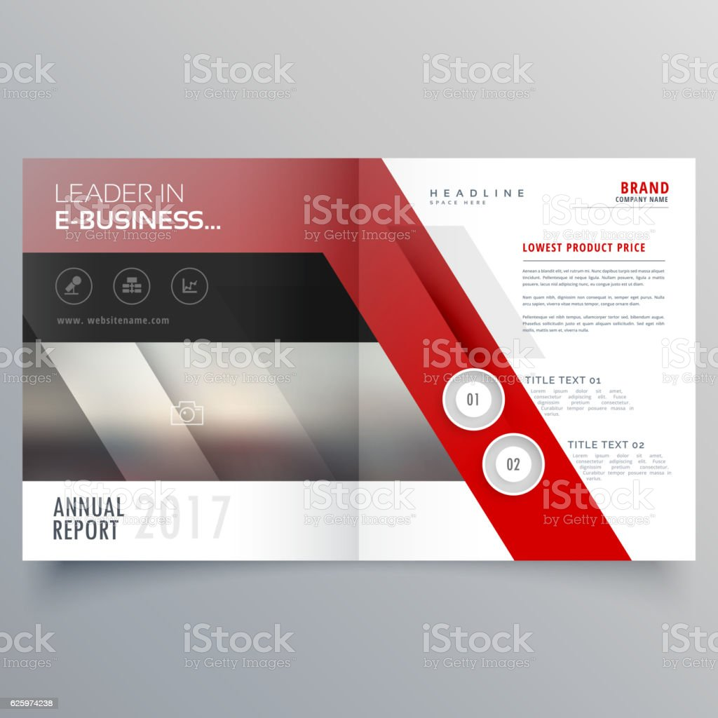 Abstract Shapes Booklet Brochure Template Design Magazine Cover