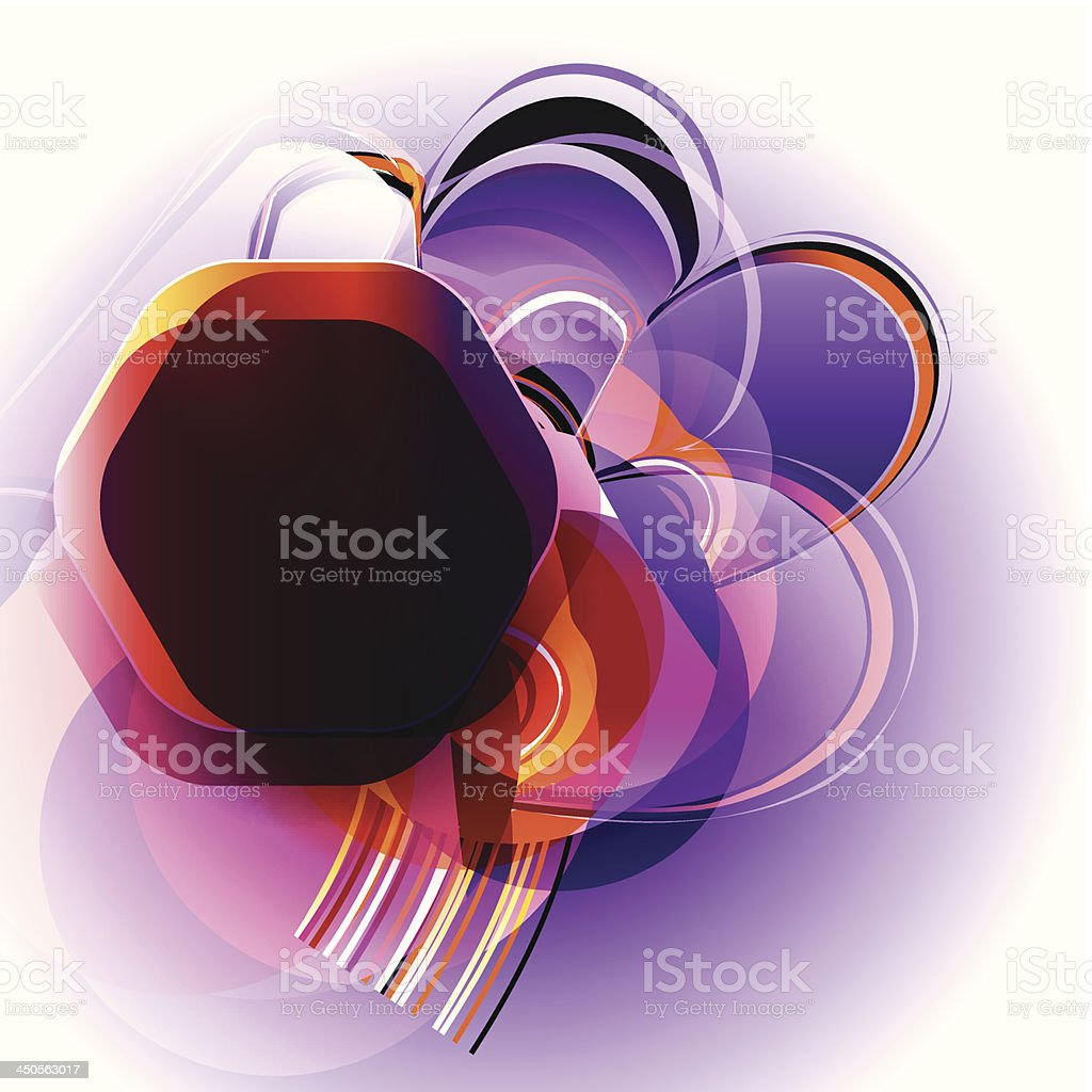 abstract shapes for text vector art illustration