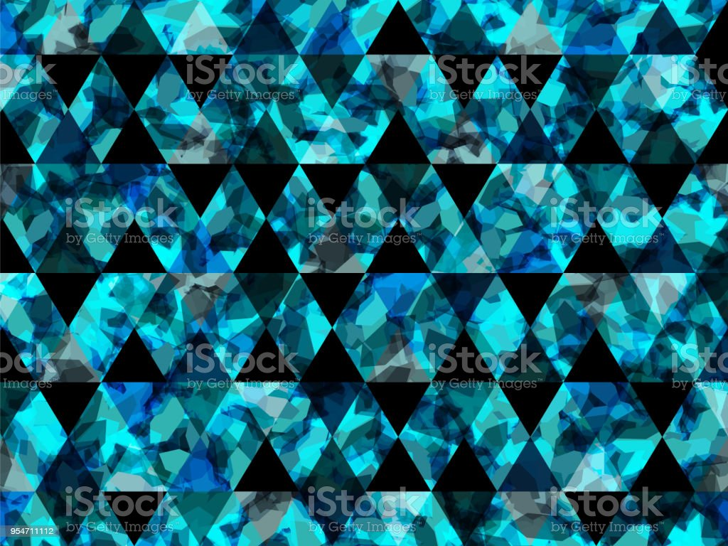 Abstract Shapes Triangle Background Water Blue Geometric Texture Trendy Vector Background Can Be Used