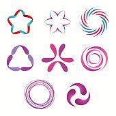 Abstract geometric shapes, symbols for your design. Vector shapes.