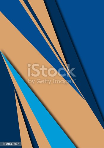 istock Abstract sharp corners background - business brochure layout. Vector illustration 1285326971