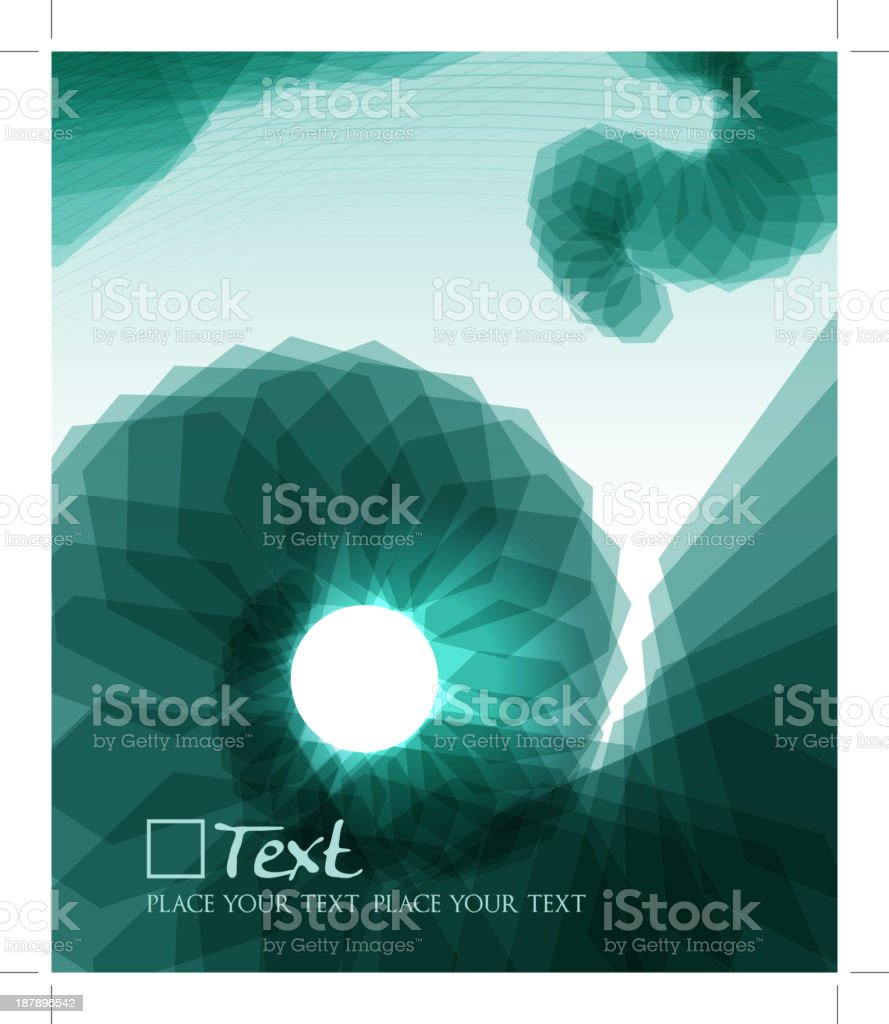 Abstract Shell vector art illustration