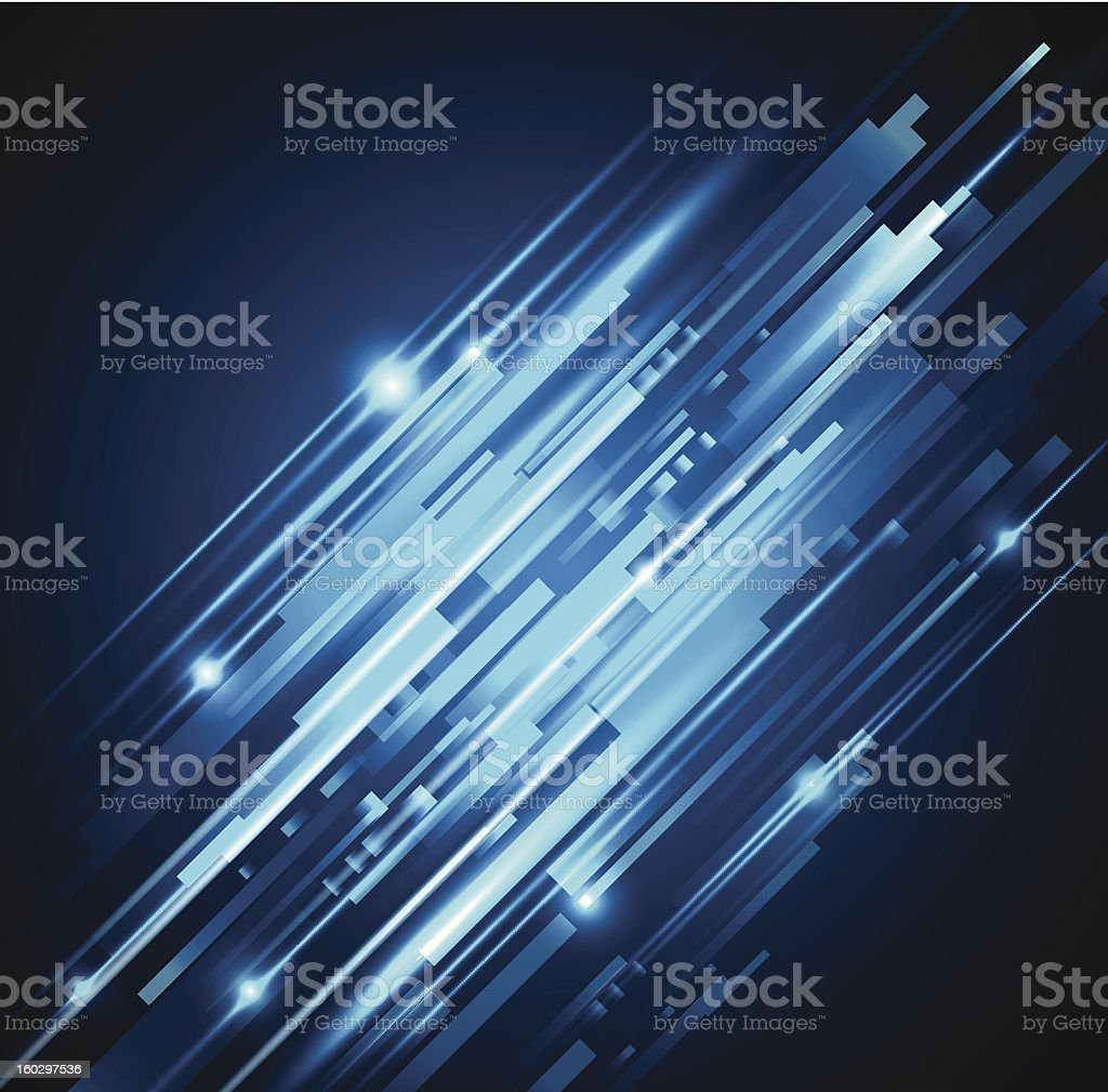 Abstract shiny blue background vector art illustration