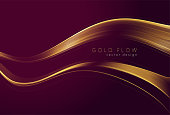 istock Abstract shiny color gold wave design element 1287302314