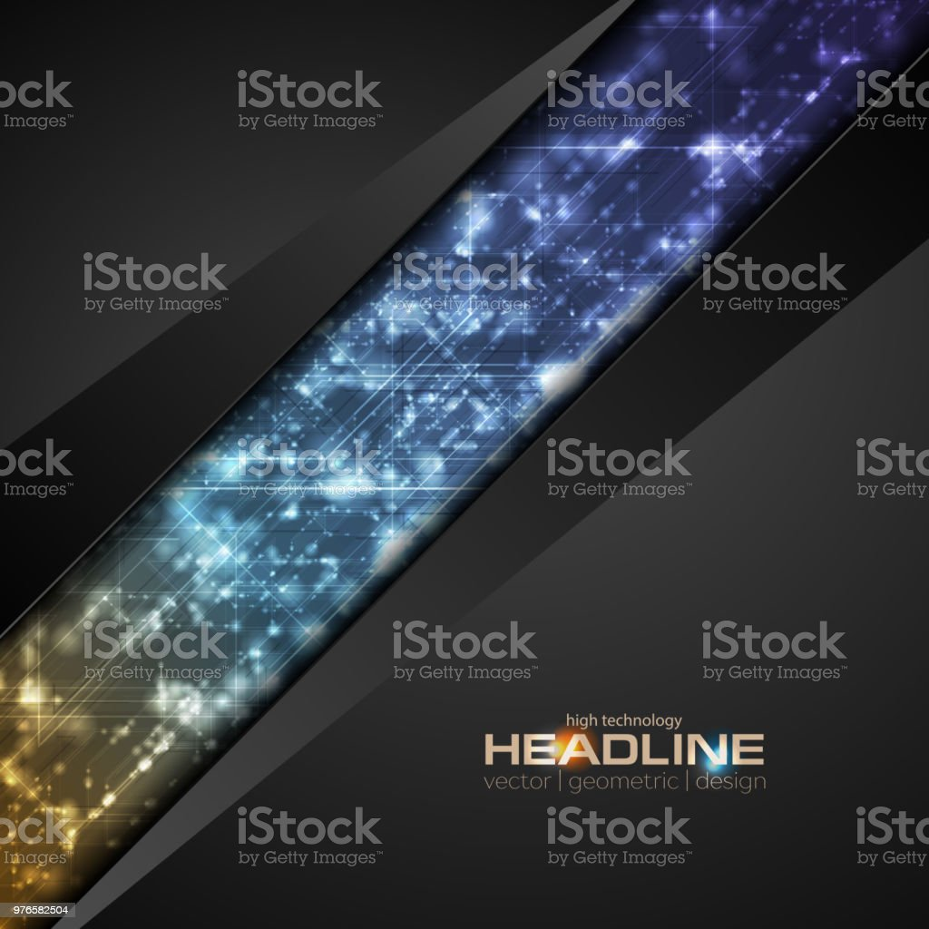 Abstract shiny hi-tech corporate background vector art illustration