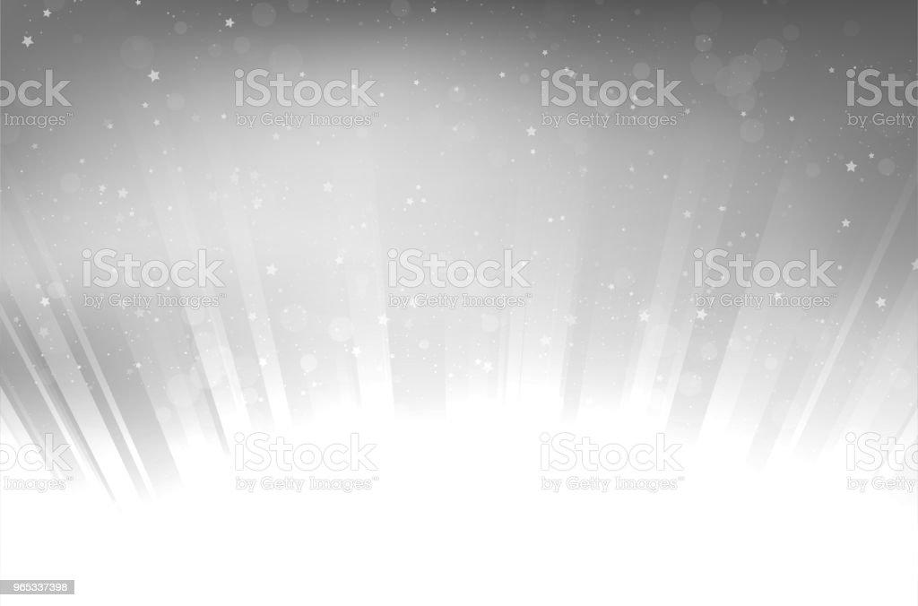 Abstract shiny rays and stars on silver background abstract shiny rays and stars on silver background - stockowe grafiki wektorowe i więcej obrazów abstrakcja royalty-free