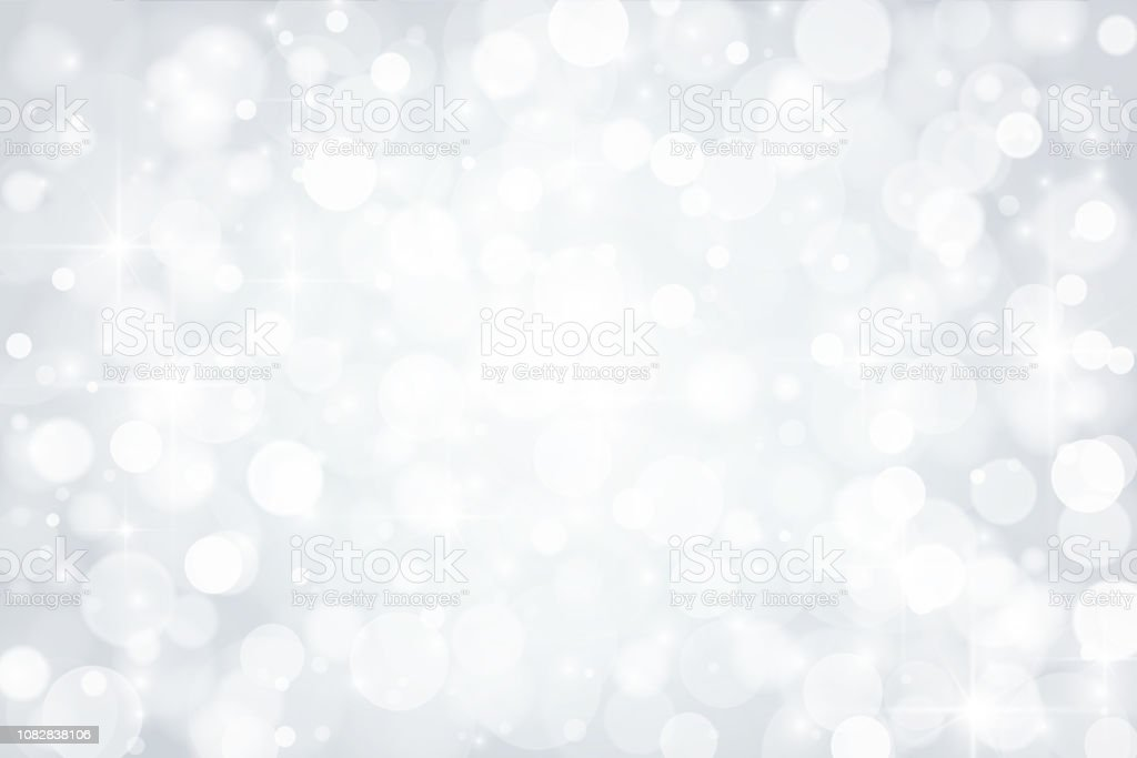Abstract shiny silver background Abstract shiny defocused lights background Abstract stock vector