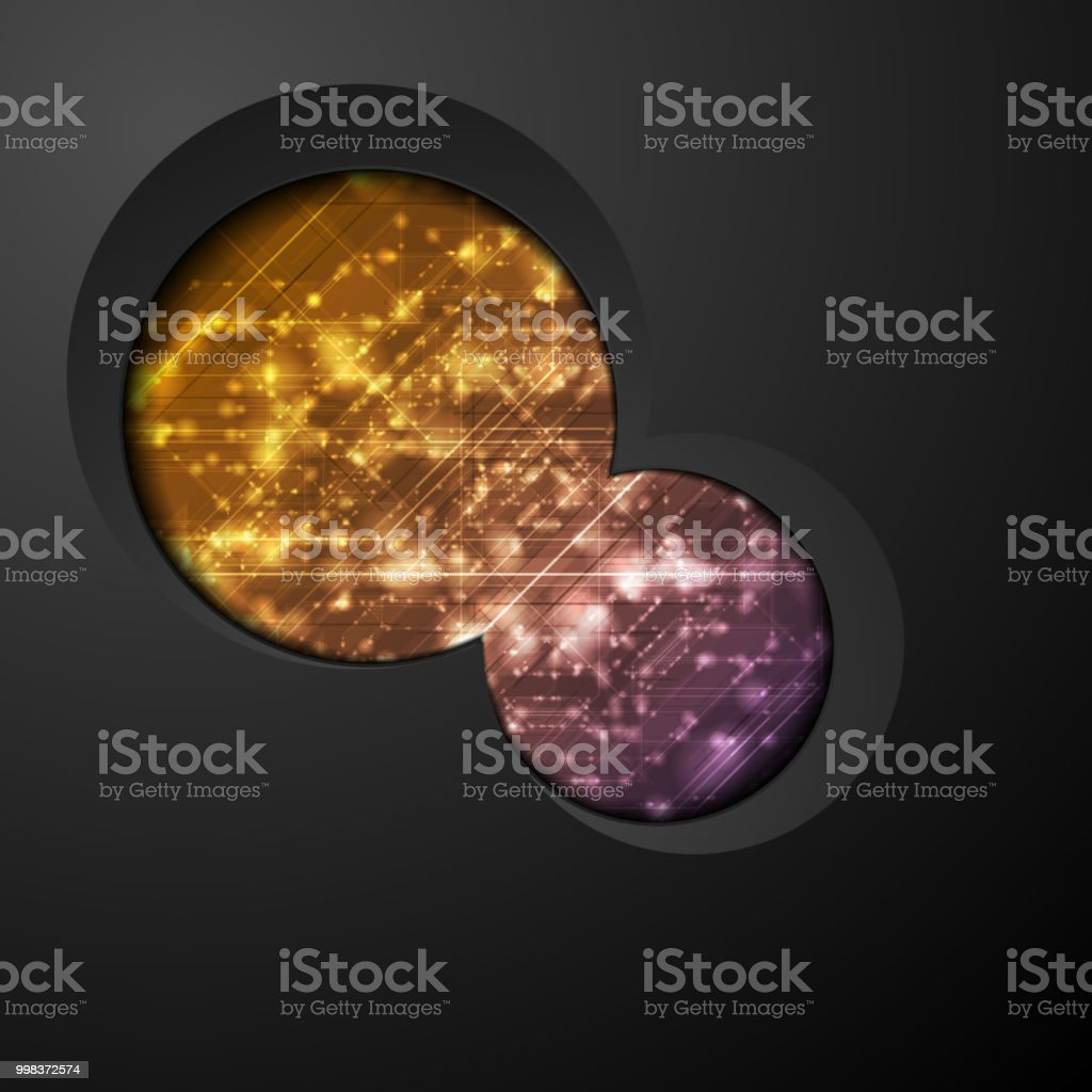 Abstract shiny technical corporate background vector art illustration