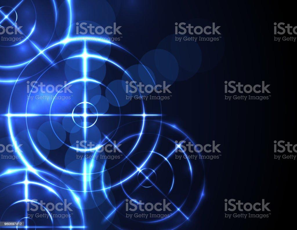 Abstract shooting range background vector art illustration