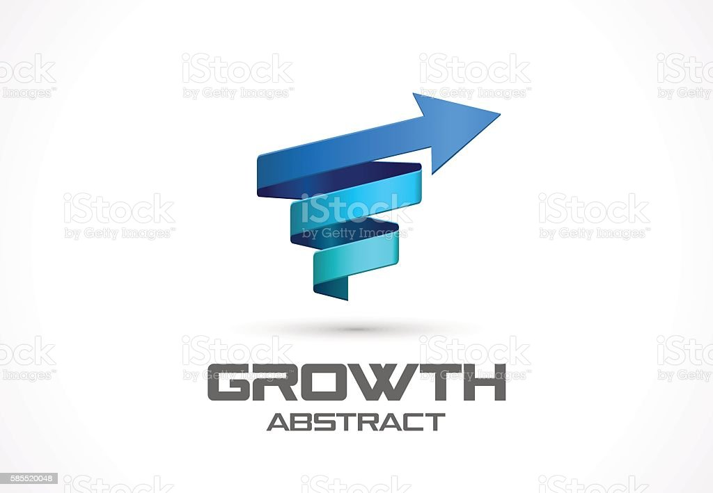 Abstract sign for business company. growth concept. vector art illustration